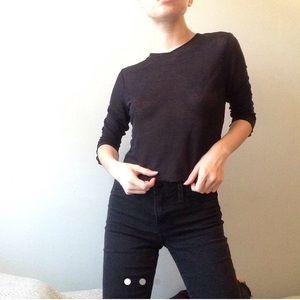 Tops - vintage 90s sheer knit mesh black top